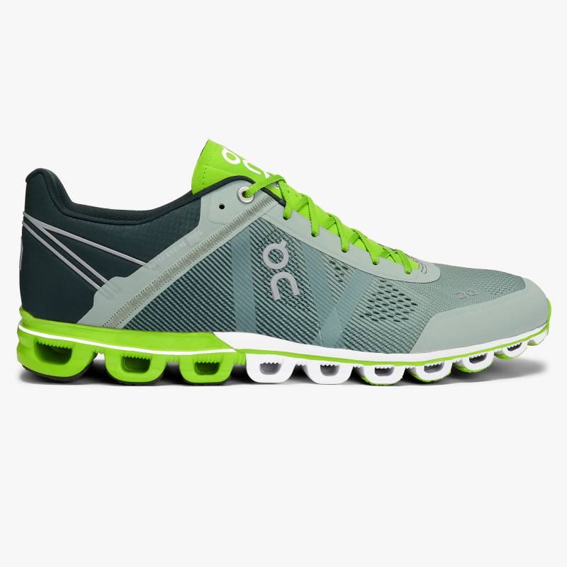 ON Cloudflow Mens Moss/Lime
