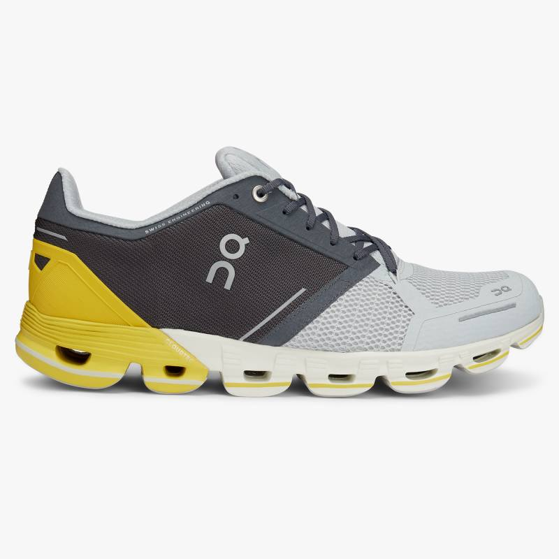 ON Cloudflyer Mens Grey/Lime