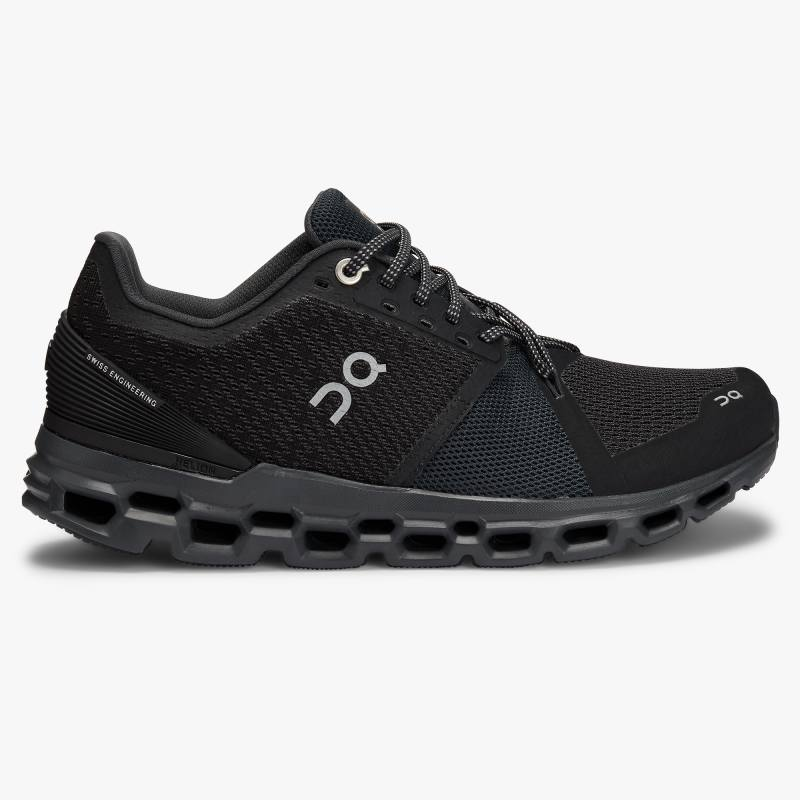 ON Cloudstratus Womens Black/Shadow
