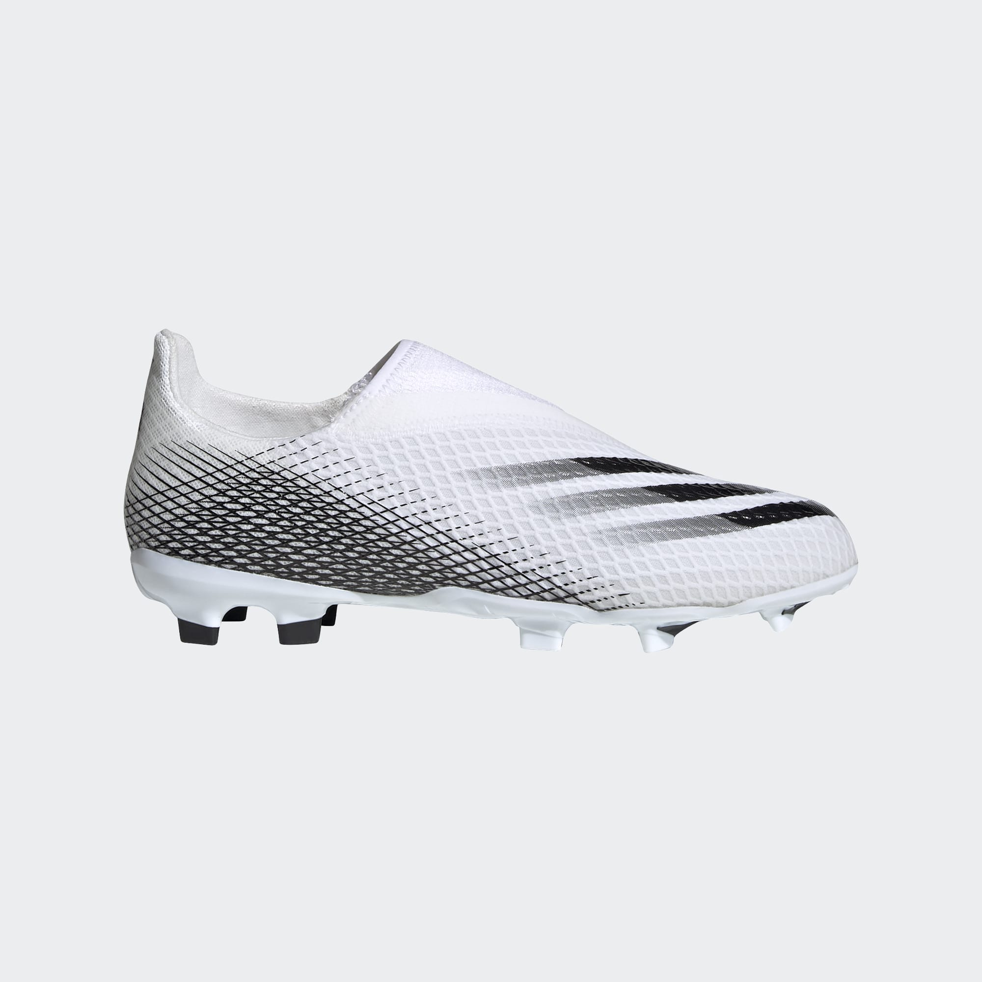 Laceless FG Junior Football Boots White