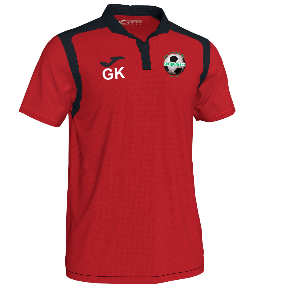 GLK Joma Champion V Polo Shirt Red/Black Adult