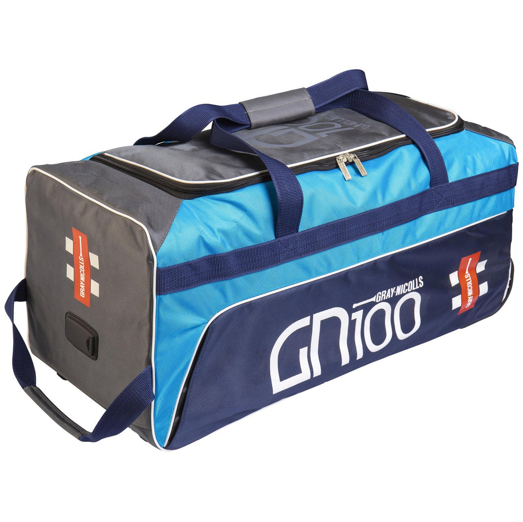 Gray - Nicolls GN 100 Wheelie Bag