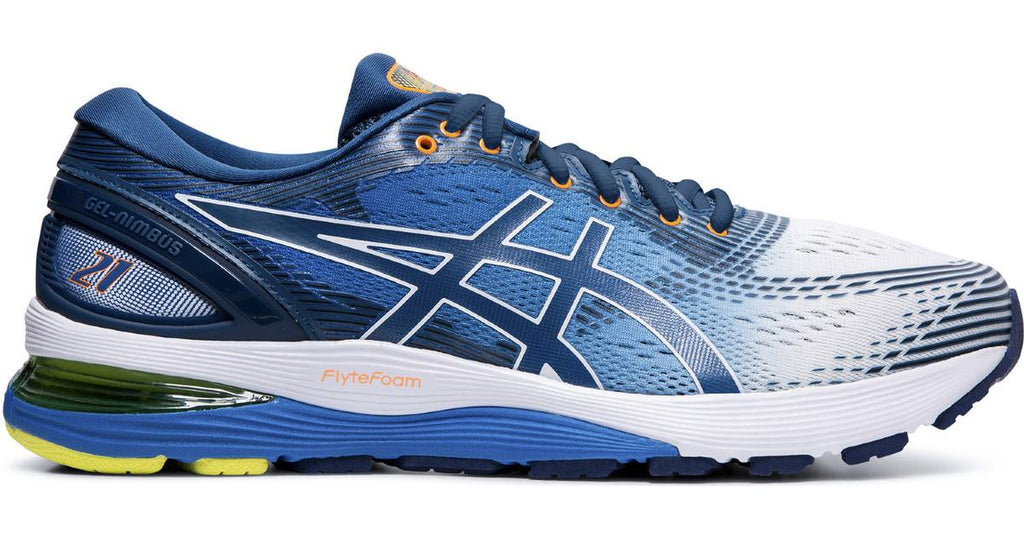 Asics Gel Nimbus 21 Mens White/Lake Drive