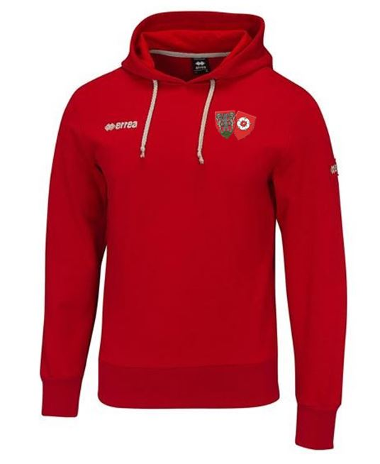 ON Chenecks Errea Warren Hooded Sweatshirt - Red