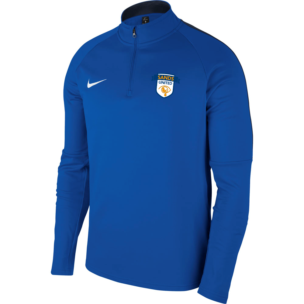 Sands F.C Nike Academy 18 Drill Top Royal/Navy