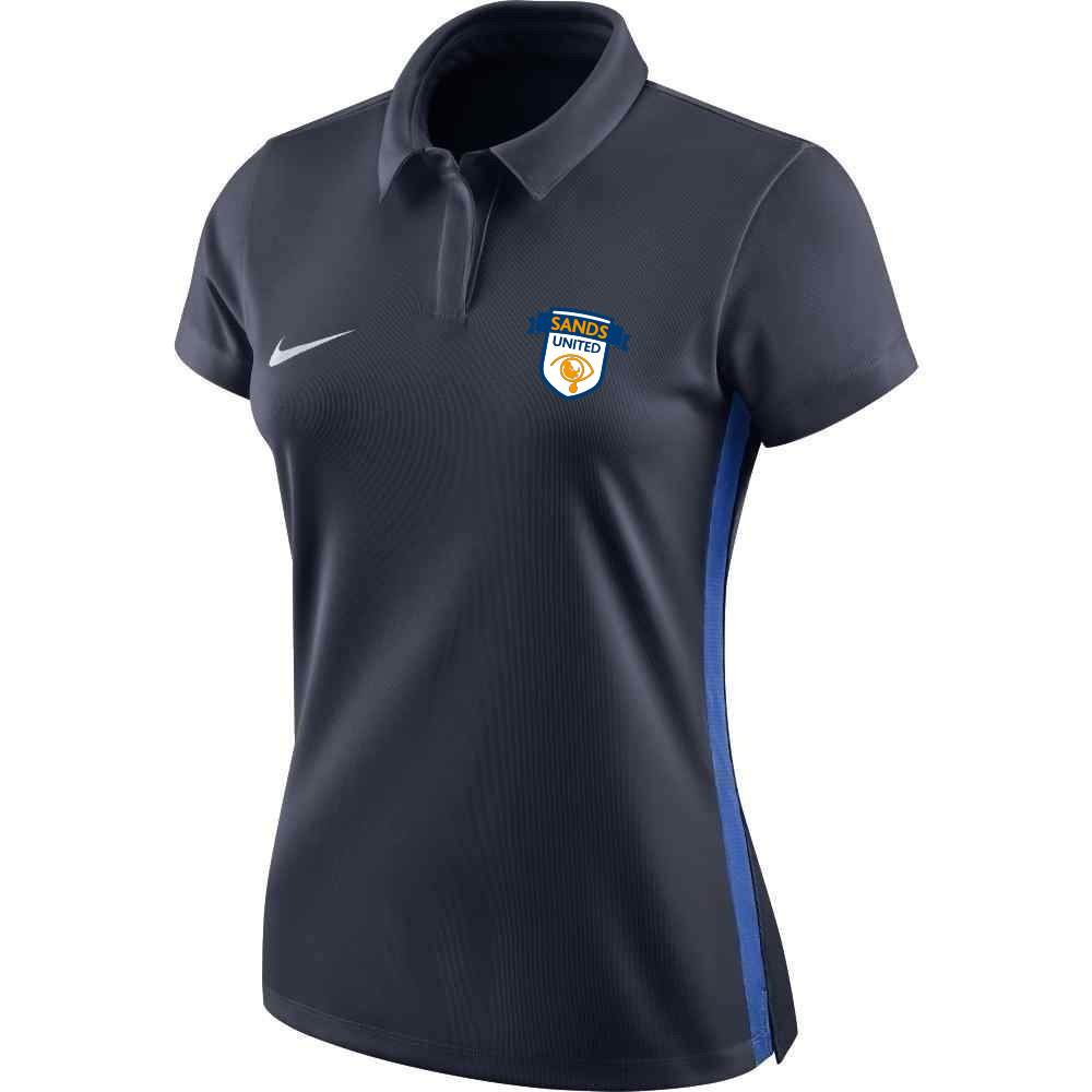 Sands F.C Nike Academy 18 Ladies Polo Navy/Royal