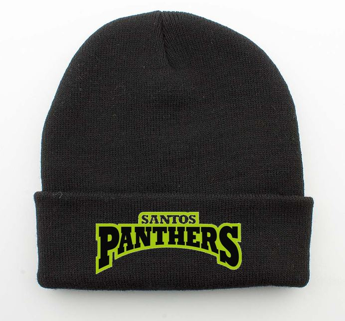 F.C Santos Panthers Cuffed Beanie Black