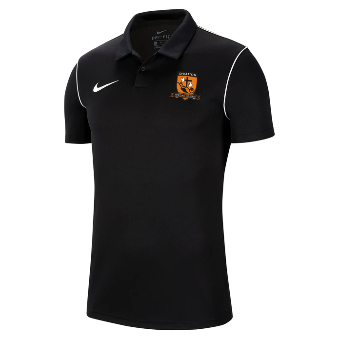 Spratton FC Adult Nike Park 20 Polo Shirt Black