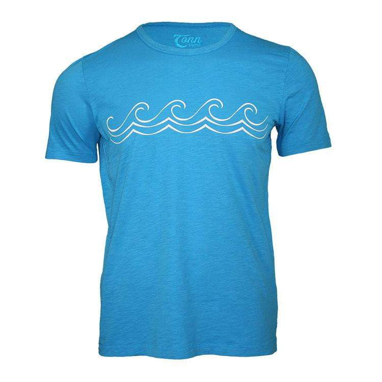 Tonn Celtic Wave Mens Tee Bright Blue