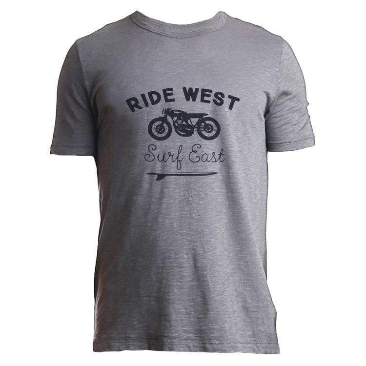 Tonn Ride West Mens Tee Grey