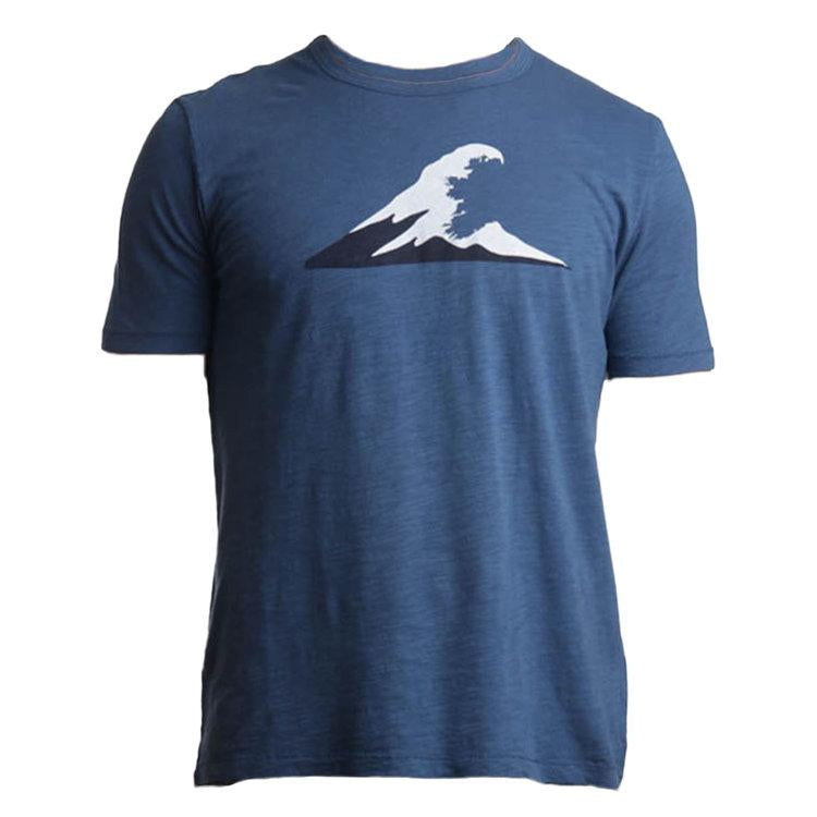 Tonn Irish Coast Wave Mens Tee Dark Blue