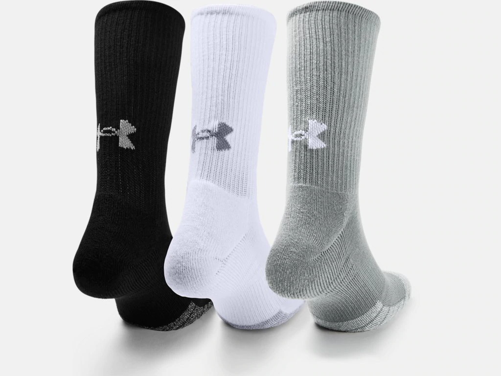 Under Armour Heatgear Crew Socks 3 Pack