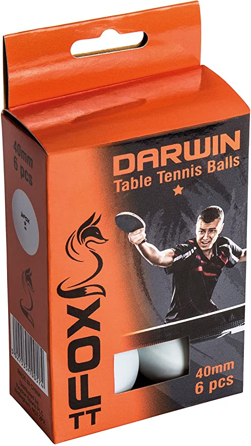 Fox 1 Star Table Tennis balls pack of 6