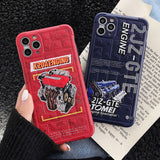 Classic faith JDM Red head machine K20 2JZ-GTE Engine Phone Case for iphone 11 Pro X Xs Max XR 7 8 Plus 3D Silicon Soft Cover