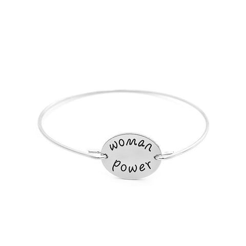 Woman Power Charm Bangle