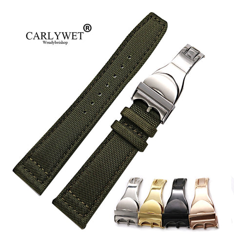 Nylon Leather Replacement Wrist Watch Strap  For Tudor Omega IWC Rolex