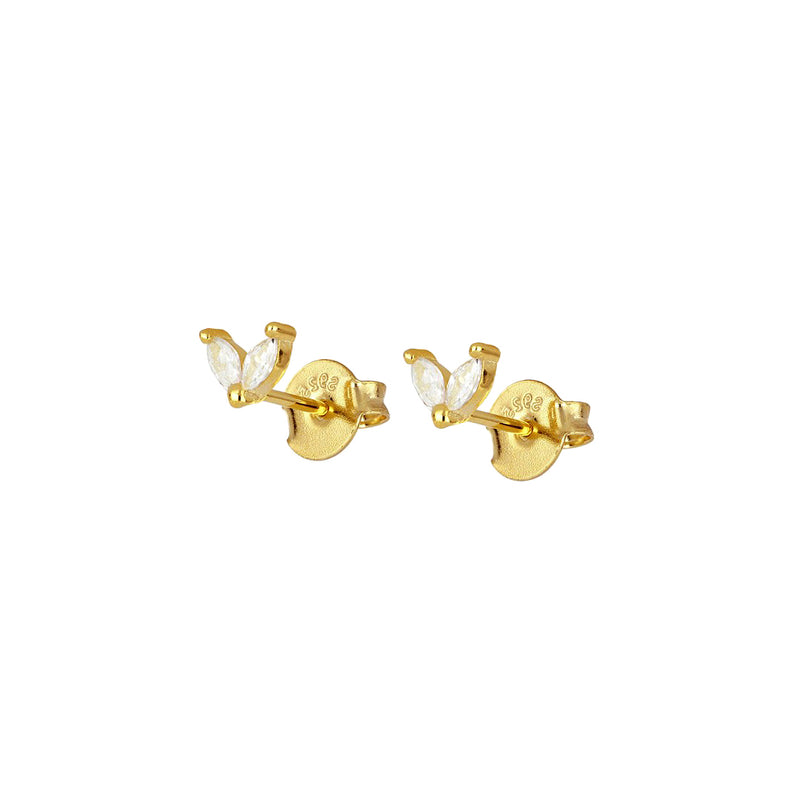 Gold Horse Eye Stud, ear stacking earrings, pear shaped earring, pear shaped studs, tear drop jewellery, tear drop earring, demi fine jewellery