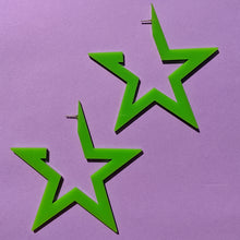 Load image into Gallery viewer, SuperSTAR Earring - LIME GREEN