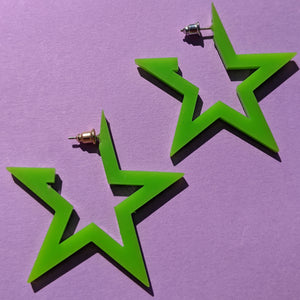 SuperSTAR Earring - LIME GREEN