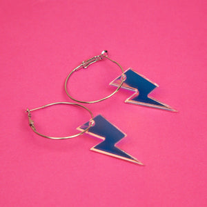 Small Lightning Bolt Hoops.