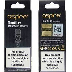 5 x ASPIRE NAUTILUS BVC , K3, BVC COILS, 1.8 ohm Replacement Coils new coil