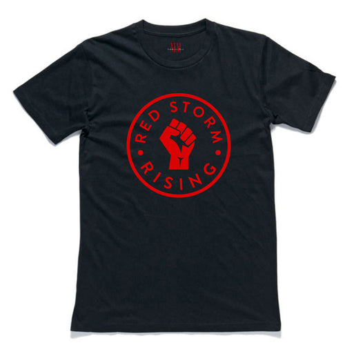 Men's Red Storm Rising Black T-shirt
