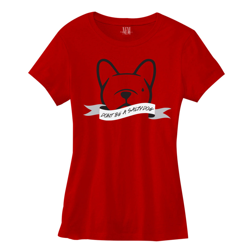 Don't Be A Salty Dog Women's Red T-shirt