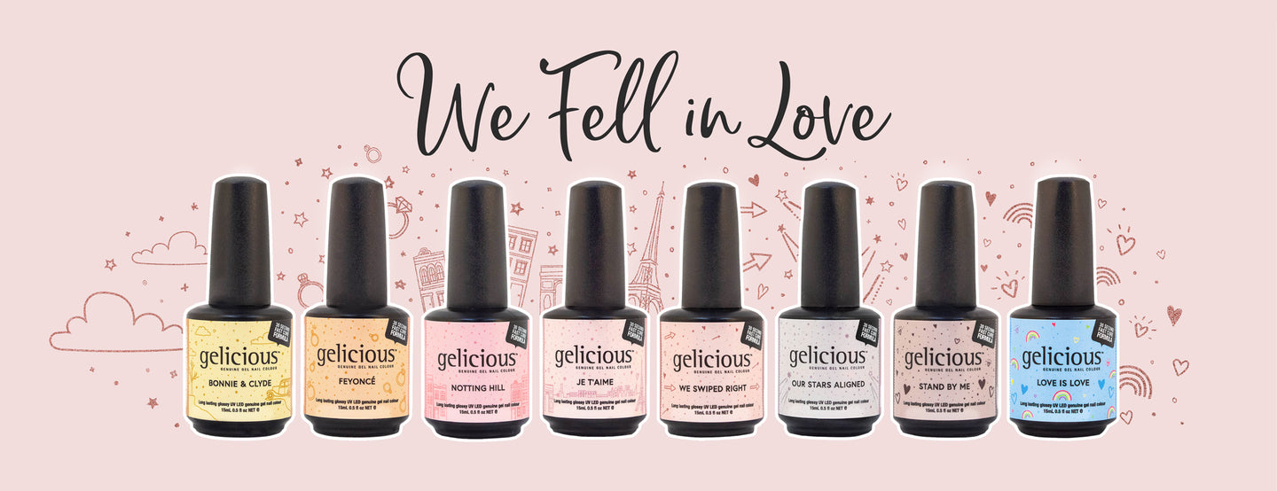 Peel Off Nail Gel - Gelicious We Fell In Love Collection