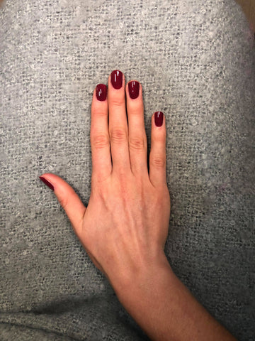 Gelicious Cherry Red Gel Nails