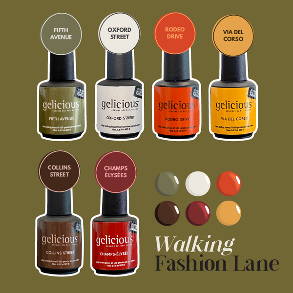 Walking Fashion Lane Collection By Gelicious Nail Co