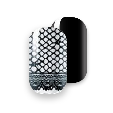 Gelicious Nail Wraps Fishnets and Stilettos