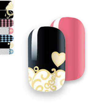 Gelicious Nail Wraps Throw Away The Key