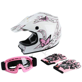 Youth Pink Butterfly Helmet