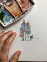 Mini Watercolor Portraits