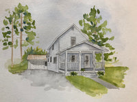 Custom Watercolor House