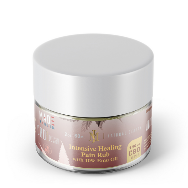 Healing Pain Rub Cream 10mg CBD and Emu Oil 150mg