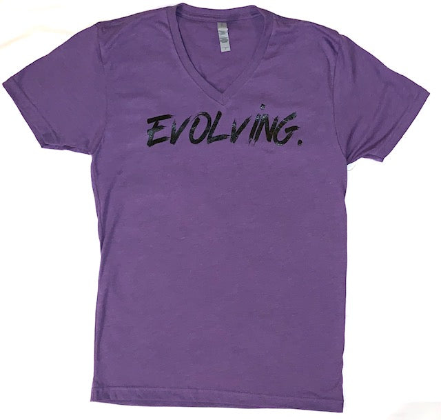 Evolving Printed V Neck Tee