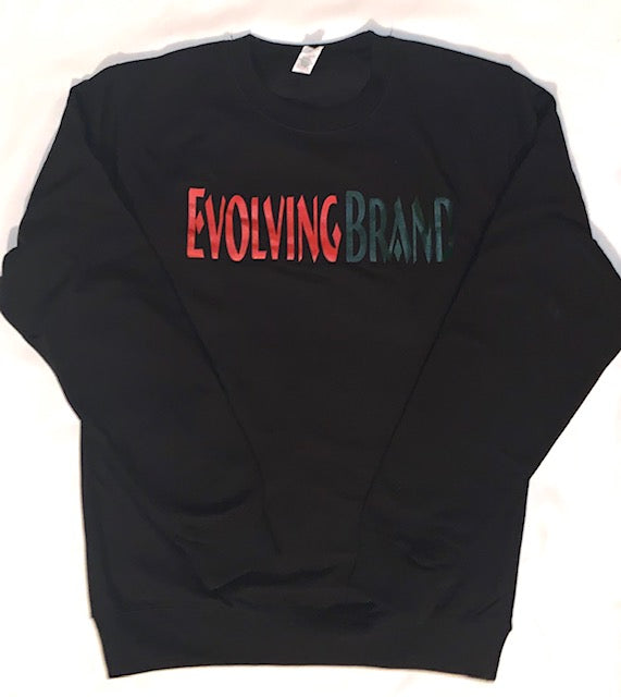 Red/Green Printed Evolving Brand Sweatshirt
