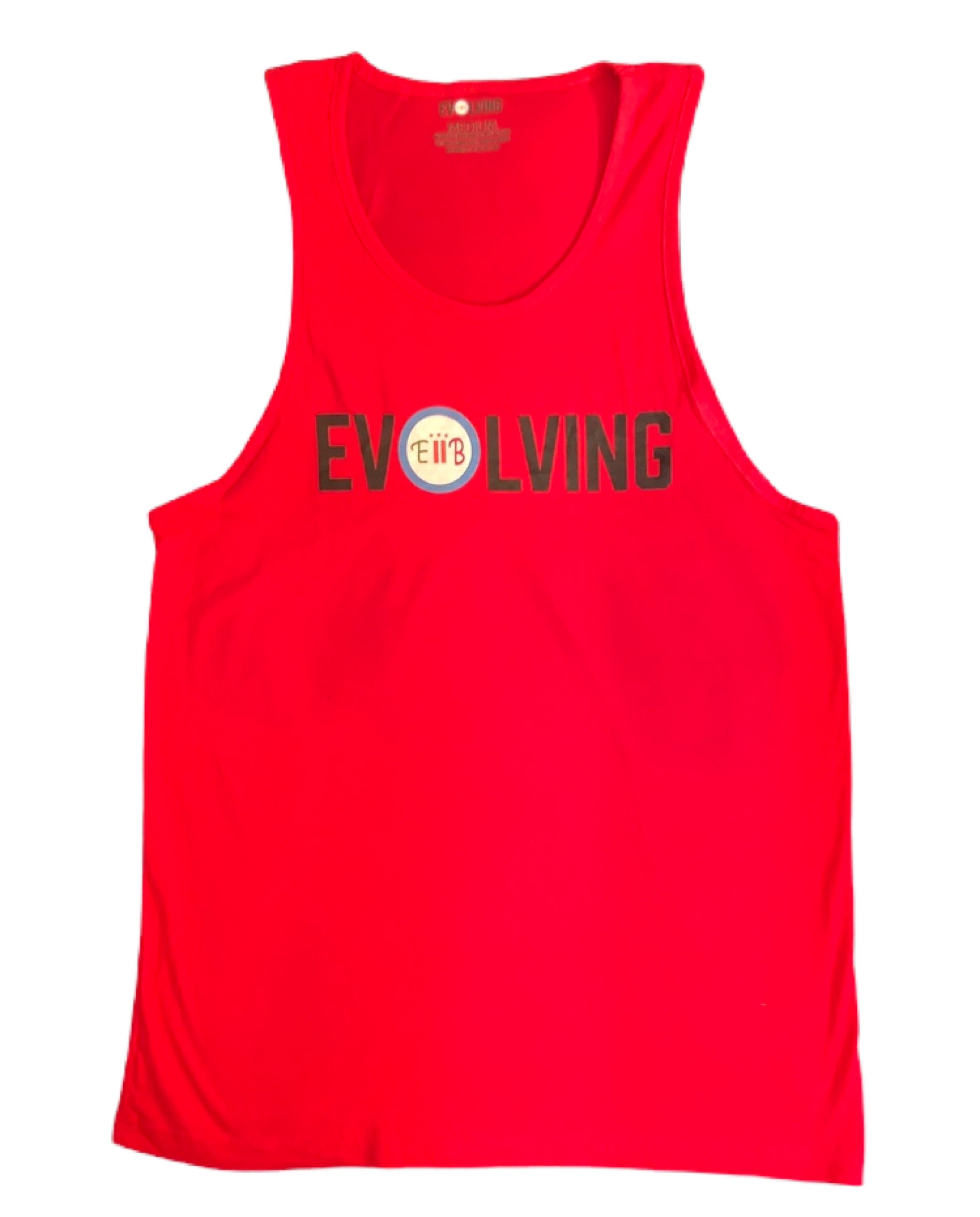 Evolving logo tank top