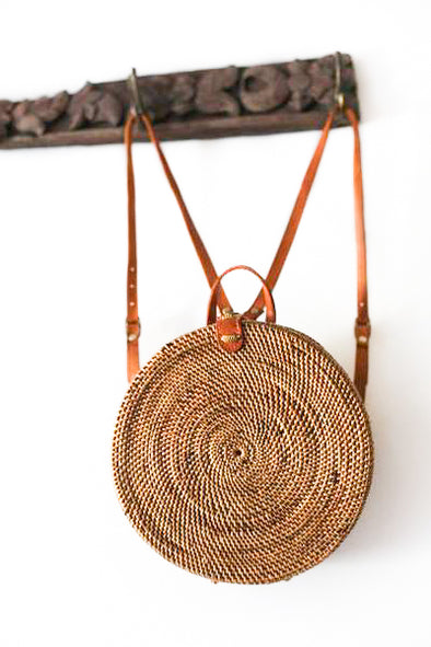ROUND RATTAN BACK PACK ( BIG ) - BEDUGAL