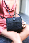 RATTAN SHELL BAG ( BLACK ) - KINTAMANI