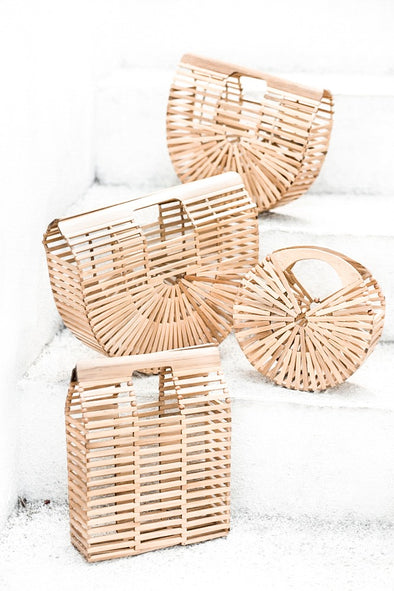 BAMBOO ROUND CLUTCH - COCO