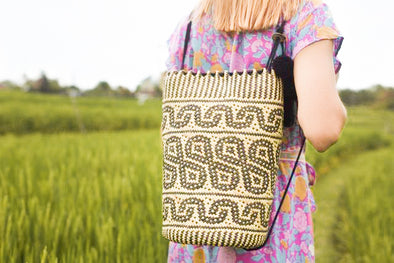 BORNEO HANDWOVEN BACKPACK - MARGOT