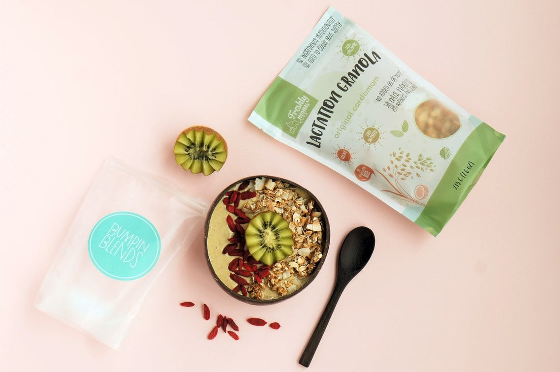 Lactation Smoothie Bowls with Bumpin Blends
