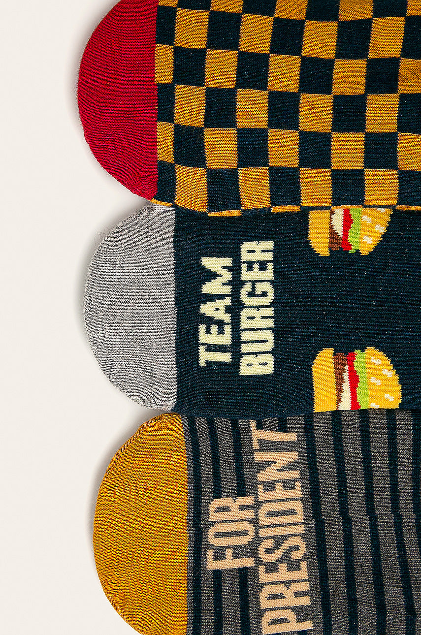 Men's Invisible Socks - Burgers and Pizza