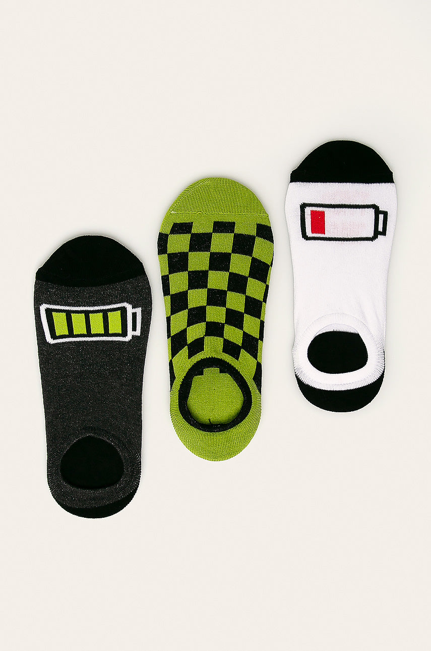 Men's Invisible Socks - Battery