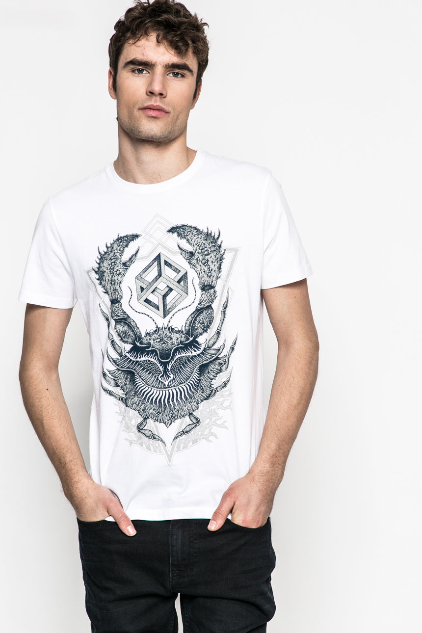 Cubic Crustacean T-Shirt (white)