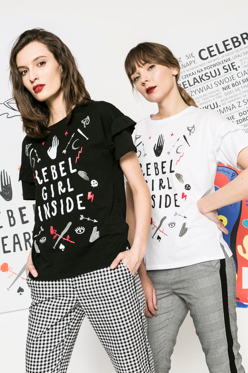 Rebel Girl Inside Top (black)