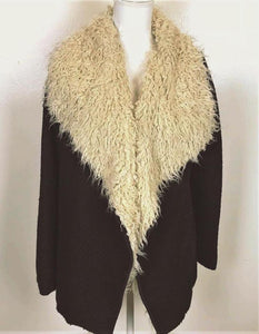 DRAPED SHEARLING COAT