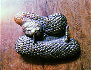 COILED RATTLE SNAKE BELT BUCKLE
